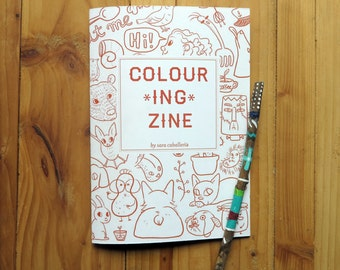 Colouring Zine   Colouring Book   24 pages