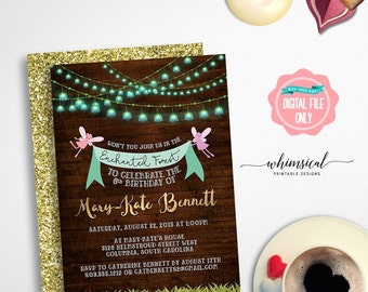 "Fairy Princess Party Invitation ""Fairy Fun"" (Printable File Only) Enchanted Forest, Fairy Birthday, Fairy Party Invite, Fairy Forest Invite"