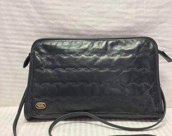 Phillippe Quilted Leather purse, Bag, Blue Leather, Bags, Purses, Shoulder Bag