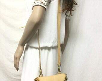 Tan Leather purse,bag, Shoulder Bag, Ann Klein, Purses