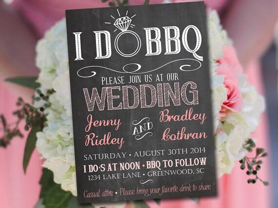 i do bbq wedding invitation template download chalkboard