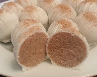 Cinnamon Roll Cake Truffles - Cake Balls - One Dozen