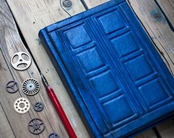 Tardis leather journal Doctor Who  journal  Tardis book Doctor Who notebook  River Song's Journal  Diary Travel journal  Christmas gift
