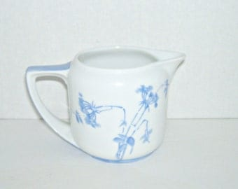 Vintage Rosenthal Donatello Creamer White with Blue Flowers
