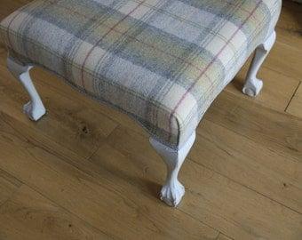 Vintage Tartan Footstool - Circa 1940s
