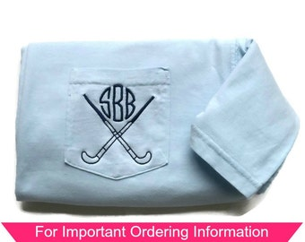 Field Hockey Shirts - Monogram - Field Hockey - Short Sleeve