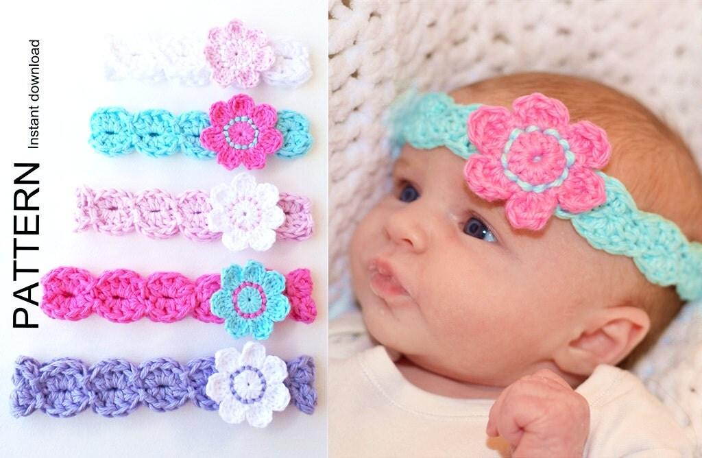 Crochet Baby Headband Instructions