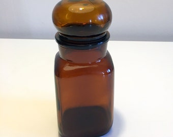 Amber apothecary jar / / 70 s / / vintage