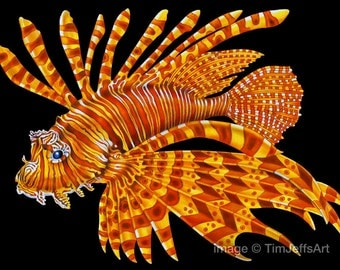 Lionfish 2 Colored Pencil Drawing