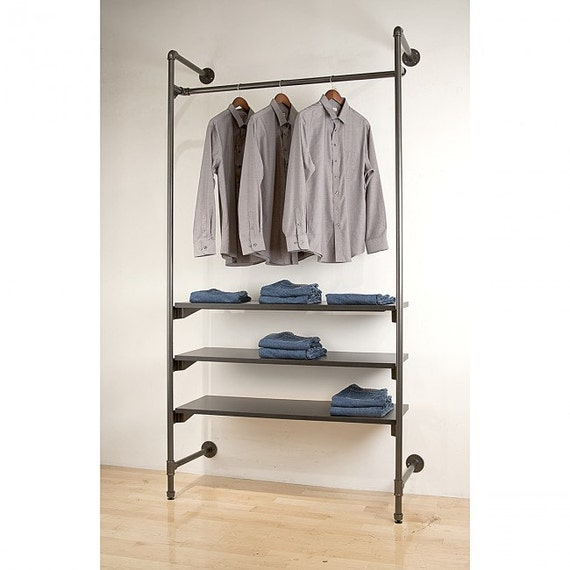 Industrial Pipe Shelving Unit Industrial Shelving By