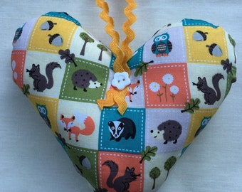 Woodland Creatures Hanging Heart Decoration - ideal Mothers Day gift
