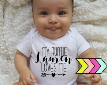Custom / My Auntie Loves Me! / My Aunt Loves me! / Aunt Bodysuit / Auntie Bodysuit