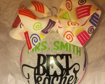 Christmas ornament, Best Teacher ornament, Teacher ornament