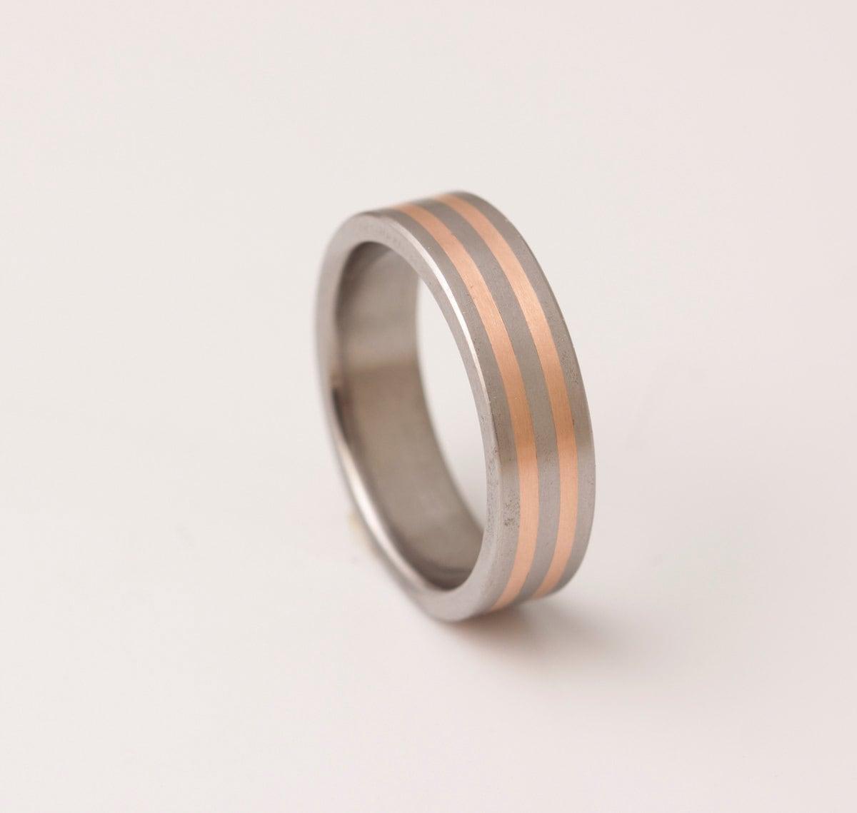 Mens Copper Wedding Rings Titanium Copper Wedding Ring Men39s Wedding Band