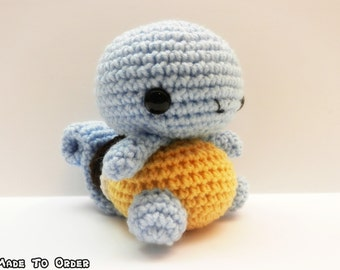 Crochet Squirtle Inspired Chibi Pokemon