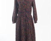 Vintage 1980s handmade shirtwaister dress (Size 12 Aust / 8 USA / 12 UK)