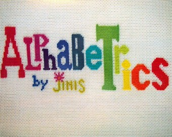 Alphabetrics By Jinis Vintage Cross Stitch Or Needlepoint Alphabet Pattern Booklet 1974