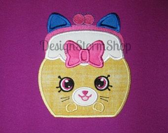 Shopkins Applique Design/Machine Embroidery Design/Jingle Purse Cat/Instant Digital Download File/Designs/Boy or Girl/4x4/5x7