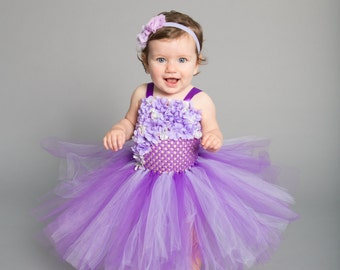 Flower girl dress - Tulle flower girl dress -Purple Dress - Tulle dress - Infant/Toddler - Pageant dress - Princess dress -Grape tutu dress