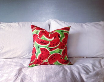 Watermelon Cushion Cover - With Black Back