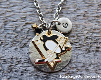 Pittsburgh Penguins Necklace, Penguins Necklace, Penguins Jewelry, Penguins Fan Wear