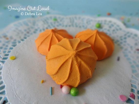 FAUX Cookie Meringue Mango Set Fake Food Prop Photo Pastel Kitchen Decor Display