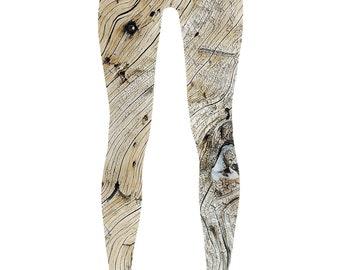 Wood Grain Print Leggings