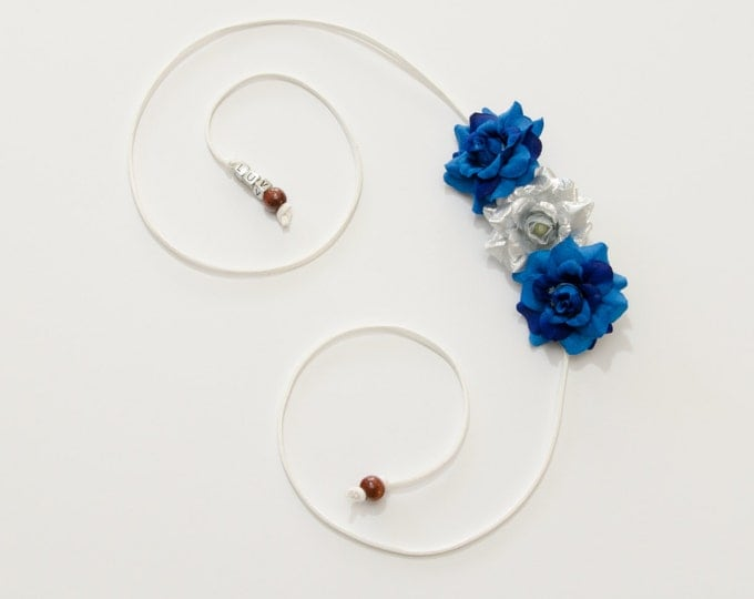 Hanukkah Rose Side Flower Crown