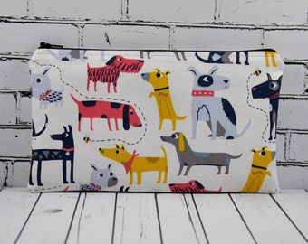 Dogs Pencil Case, Cute Dog Zip Pouch