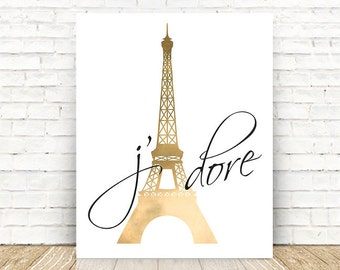 Paris Eiffel Tower Art, Paris Gallery Wall Print, Paris Print, French Quote Art Print, Paris Bedroom Art, Paris Art, 5x7, 8x10, 11x14 PRINT