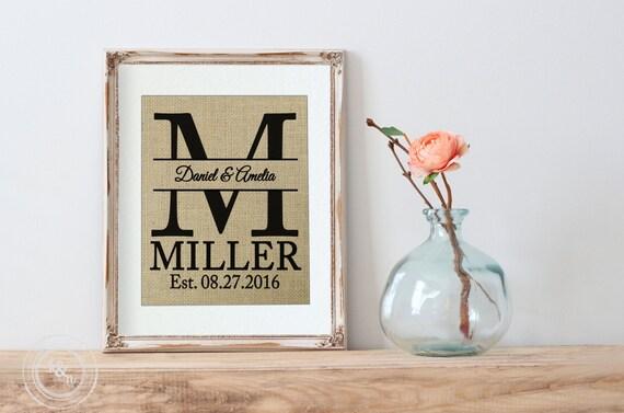 Like this item. DIY Wedding Framed Burlap Art Print DIY Home Decor Gift for