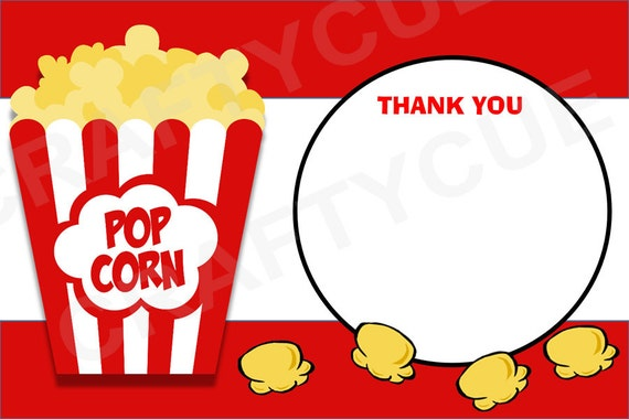 popcorn thank you cards printable