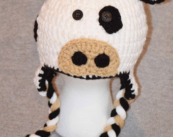 Baby cow hat, kids cow hat, adult cow hat, cow crochet hat, newborn cow hat, cow hat, crochet baby hat, knit cow hat, cow hats, animal hats