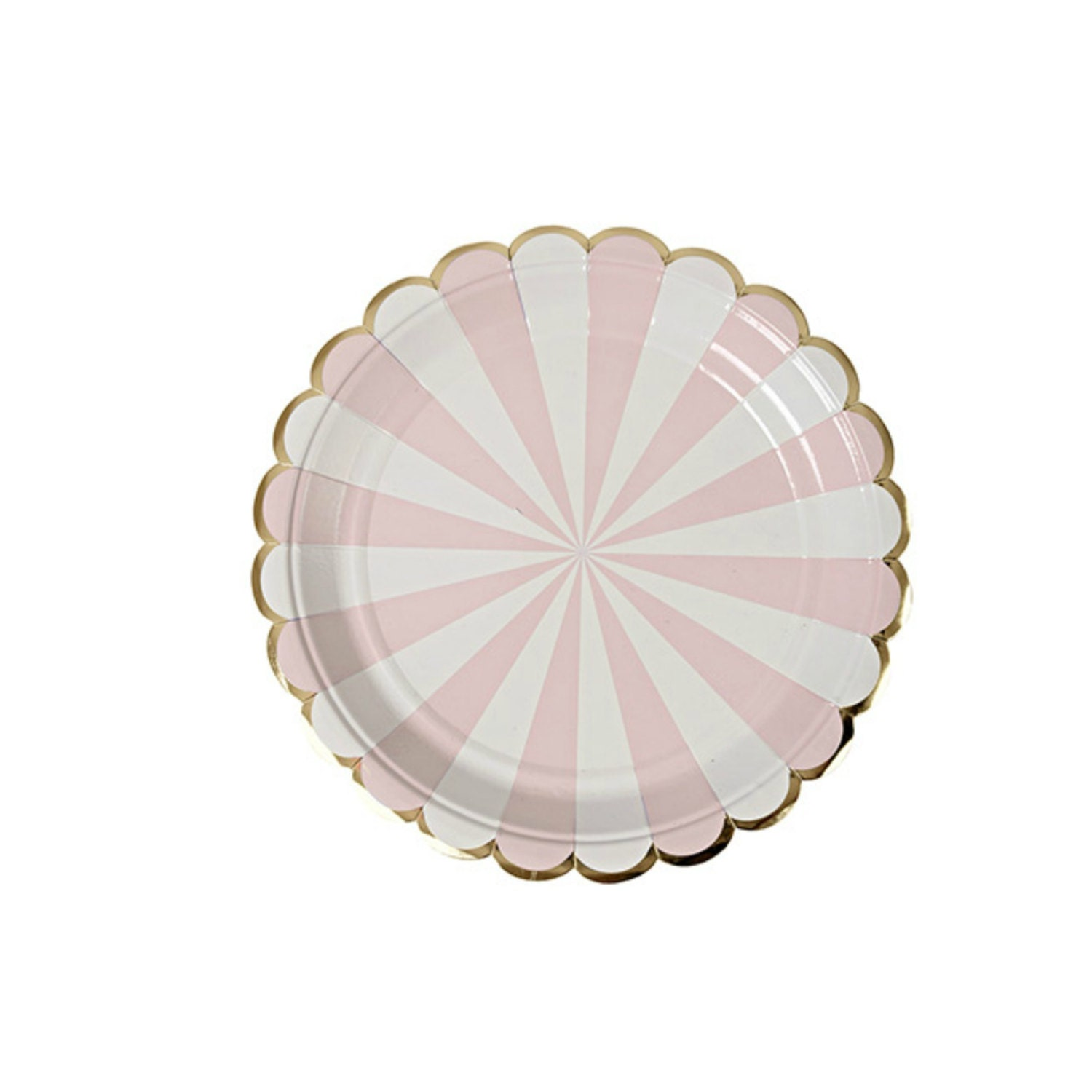 pink dessert plates paper plate pink and gold party gold pink. Black Bedroom Furniture Sets. Home Design Ideas