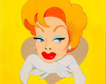 Lucille Ball original painting by Disney Artist Dave Woodman