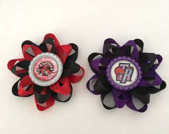 Toronto Raptors Loopy Bow / Hairbow clip / Loopy Bow / Bottlecap Bow / Raptors Bow