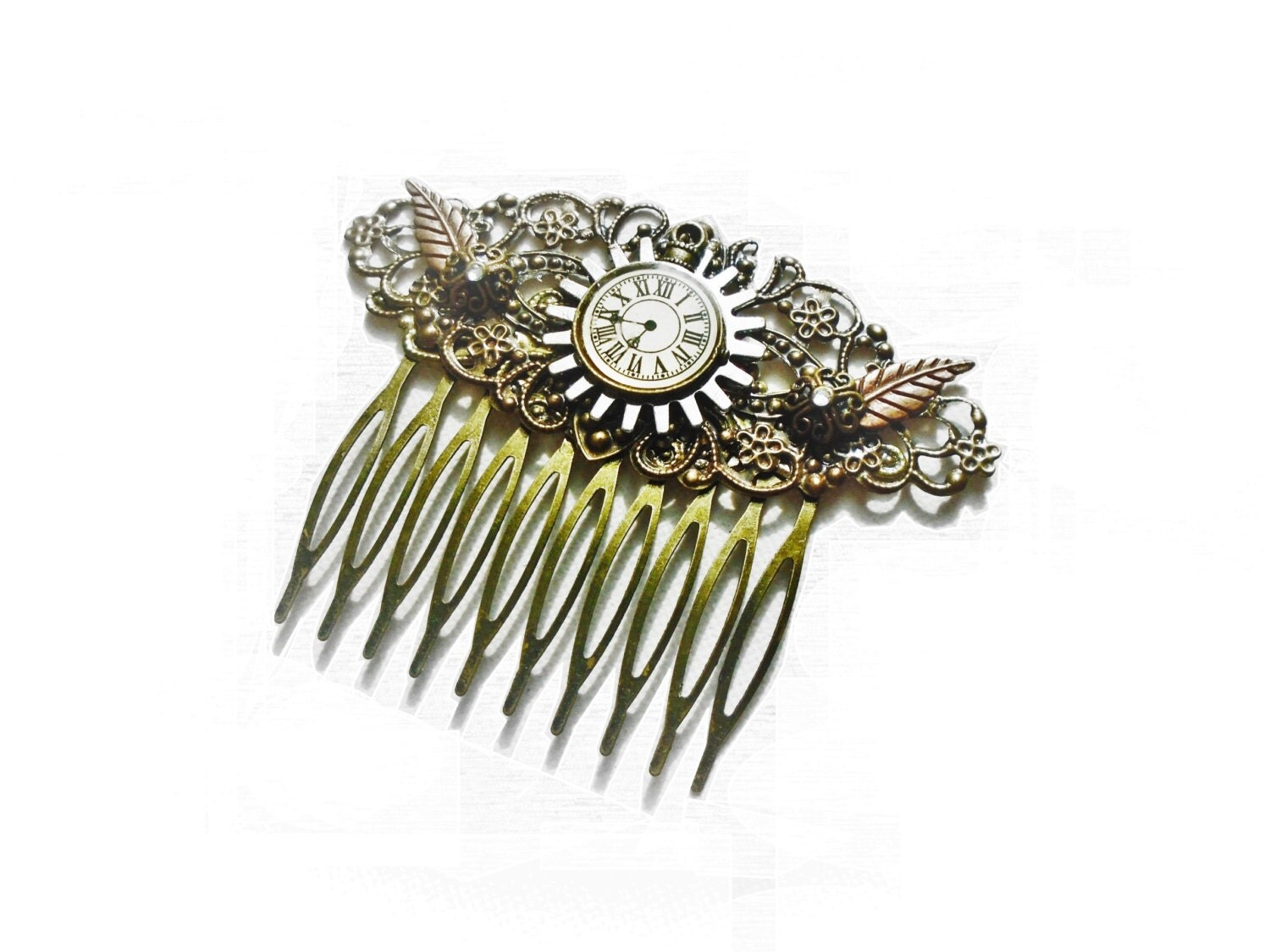 victorian steampunk hair comb steampunk hair accessories