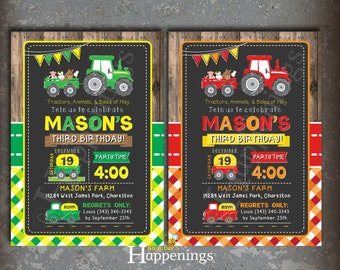 Tractor cupcake toppers tractor birthday cupcake toppers farm tractor birthday invitation farm birthday invitation farm tractor invite barn invite red tractor by busy bees filmwisefo Choice Image