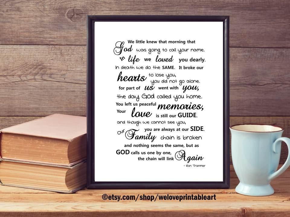 In Memory Of Mom In Memory Of Dad Sympathy Gift In Memory