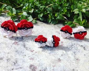 Pokeball Rose Earrings