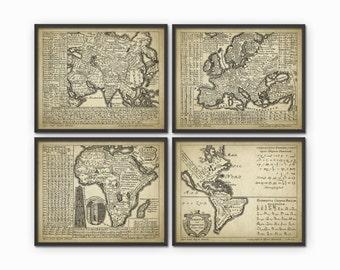 World Languages Art Print Set Of 4 - Linguistics Study - World Languages - Language Art - Study Of Language - Linguistics Student - Science