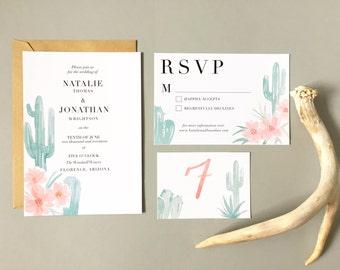 Desert Invitation Set - Saguaro Watercolor