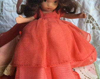 Wednesday's Child—Nancy Ann Storybook Doll #182—Bisque, Frozen Legs, Beautiful Dress—From Daddy 1943