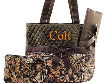 Personalized Diaper Bag Monogrammed Brown Camo Diaper Bag Diaper Bag Monogrammed Diaper Bag