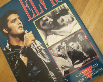 Vintage Elvis Book, Elvis by K.D. Kirland, Vintage Book, Hardback Book, King of Rock N Roll, Elvis Presley Hardback Book, Copyright 1988