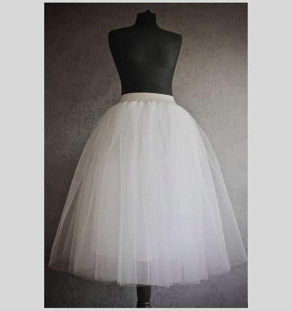 white tulle skirt bridesmaid tulle skirt by