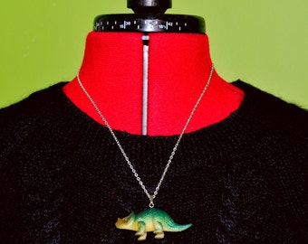Green Dinosaur Necklace
