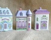 Lenox Spice Village Jars // Vintage seasoning // 1989 Lenox house