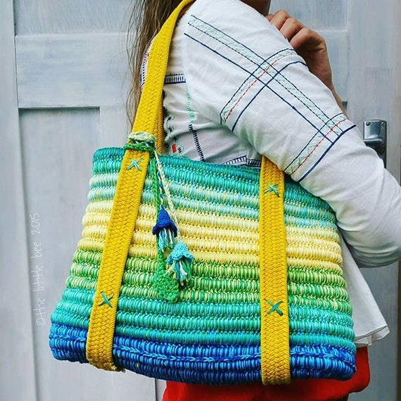 Free Crochet Bag Patterns To Download : Crochet Bag Pattern Instant Download Ropey Tote