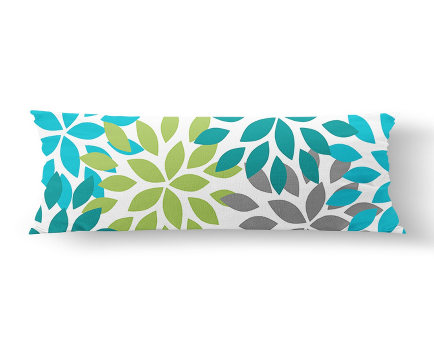 Large Decorative Body Pillow : Body Pillow Case Body Pillow Cover Dahlia Pillow Cover Teal